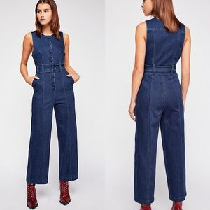 $148 Free People Maddie Denim Jumpsuit